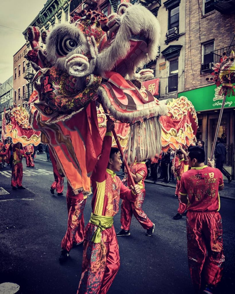 Parada smoków na Chinatown