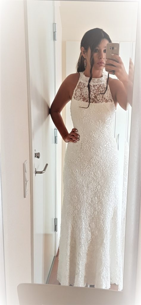 suknia ślubna, koronkowa syrenka