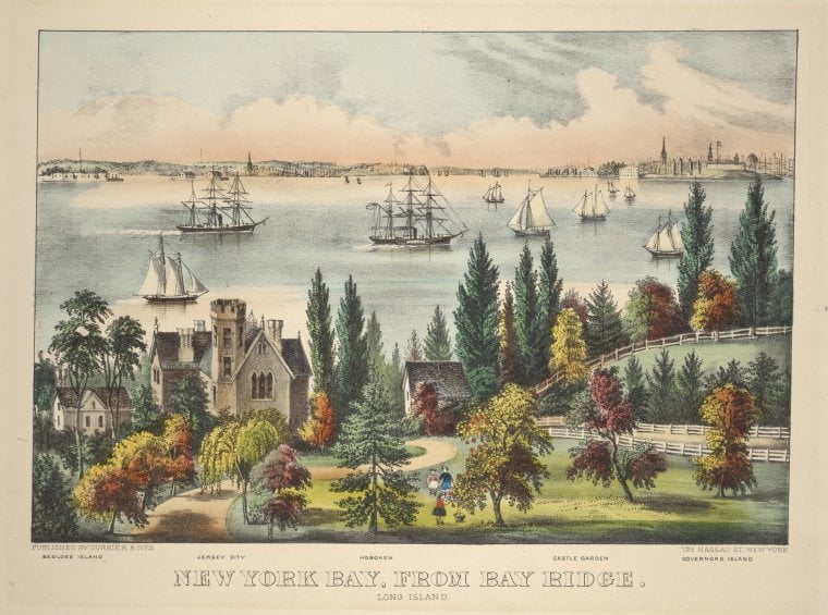 Widok z Bay Ridge na Zatokę Nowojorską.