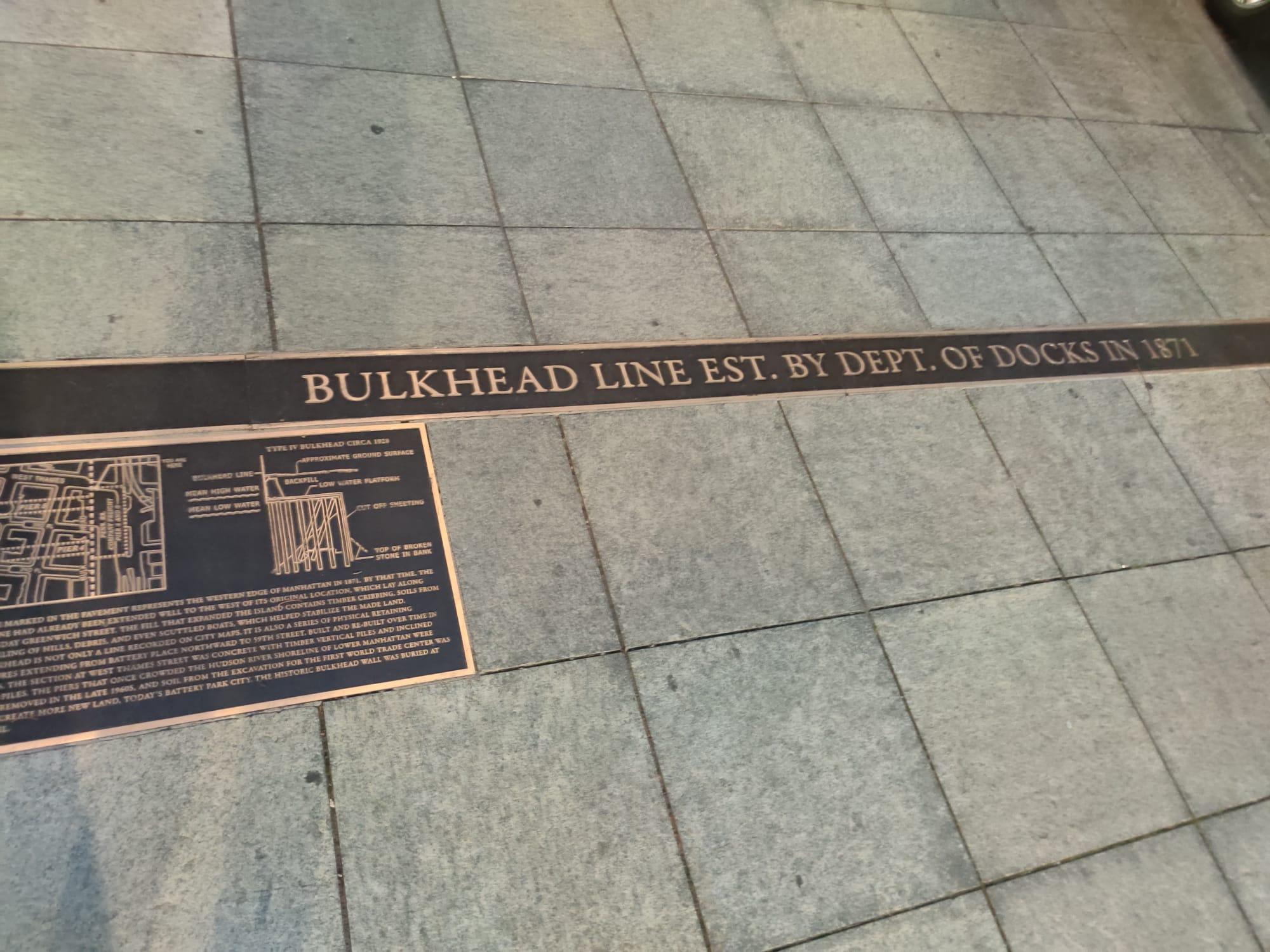 Bulhead line Battery Park City